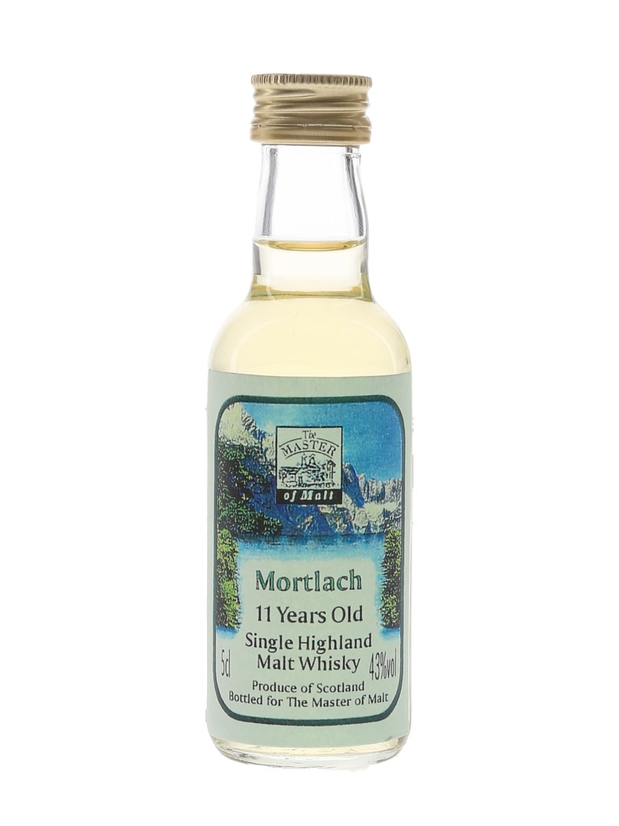 Mortlach 11 Year Old Bottled 1990s - The Master Of Malt 5cl / 43%