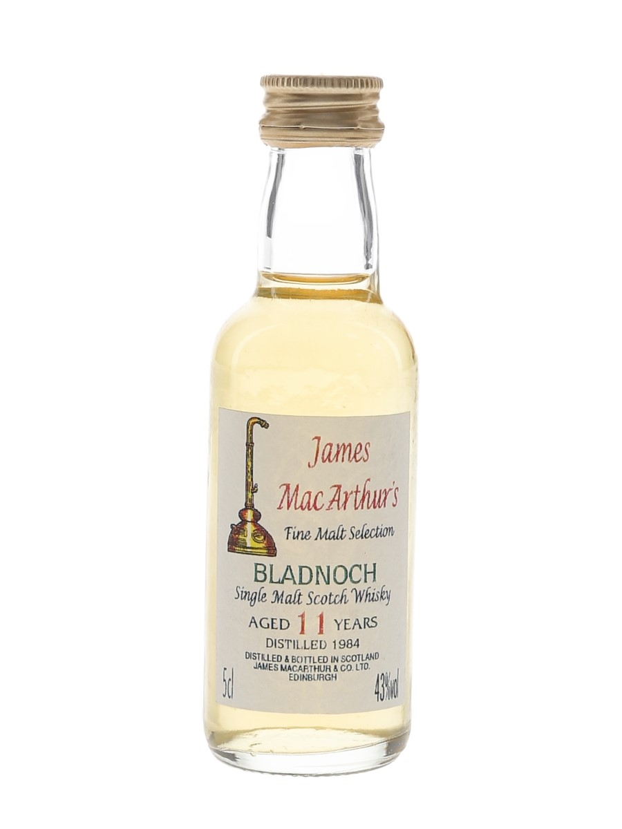 Bladnoch 1984 11 Year Old James MacArthur's 5cl / 43%