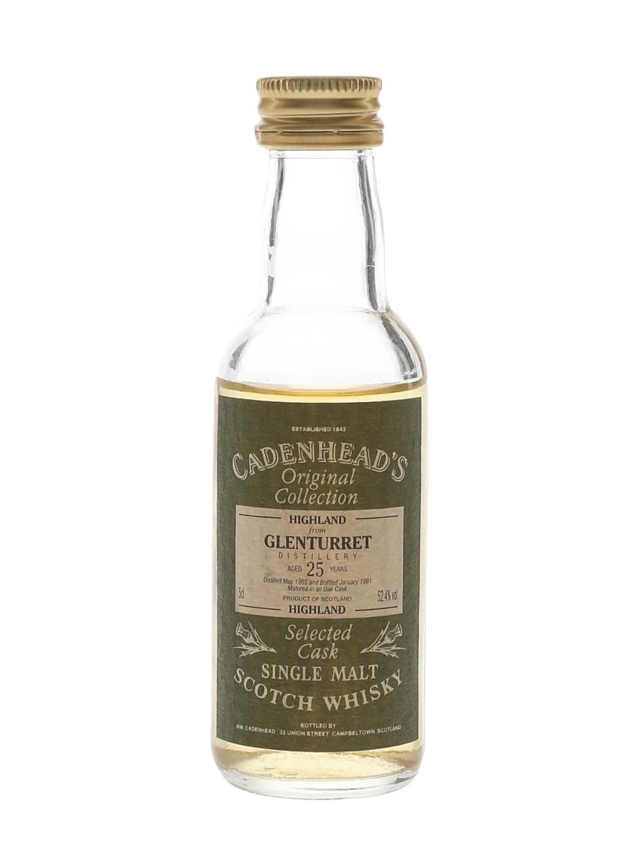 Glenturret 1965 25 Year Old Bottled 1991 - Cadenhead's 5cl / 52.4%