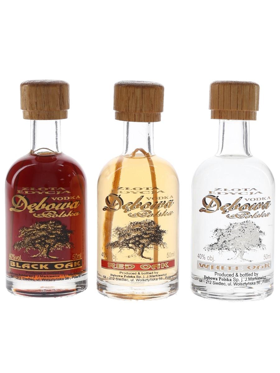 Debowa Polska Vodka Black Oak, Red Oak & White Oak 3 x 5cl / 40%