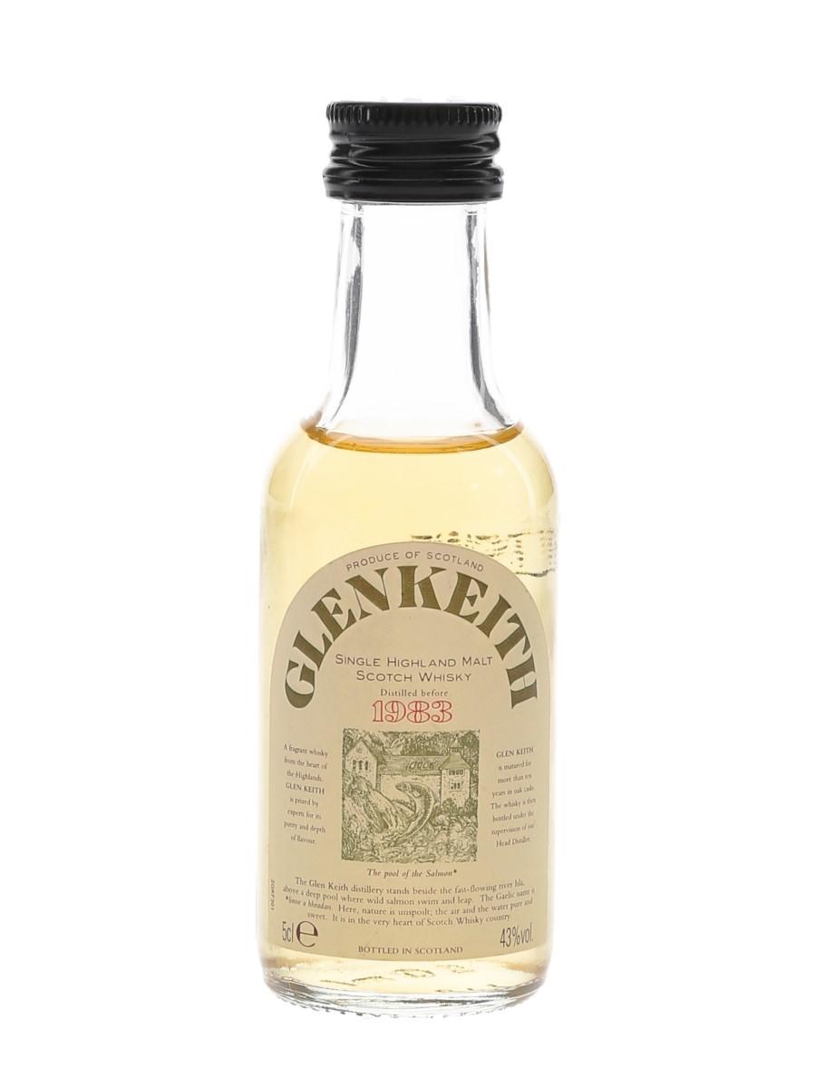Glen Keith Distilled Before 1983 Bottled 1990s 5cl / 43%