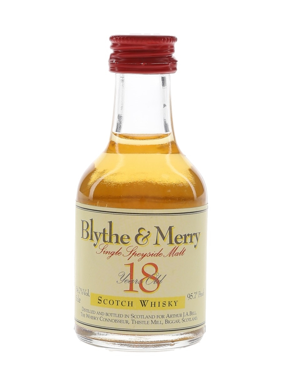 Balvenie 1975 18 Year Old Blythe & Merry The Whisky Connoisseur - The Robert Burns Collection 5cl / 54.7%