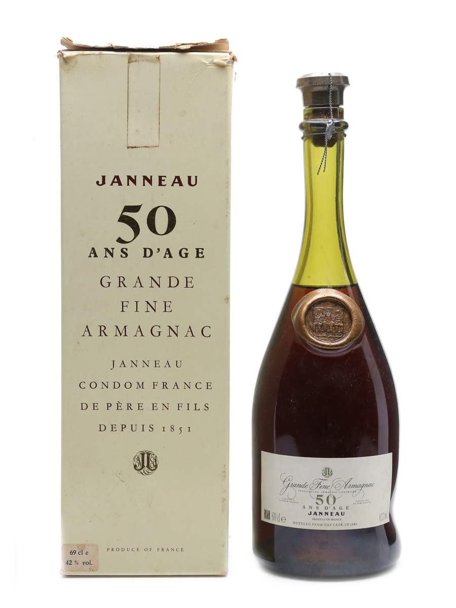Janneau 50 Year Old Armagnac Bottled 1981 69cl / 42%