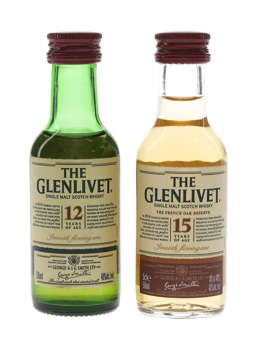 Glenlivet 12 & 15 Year Old  2 x 5cl / 40%