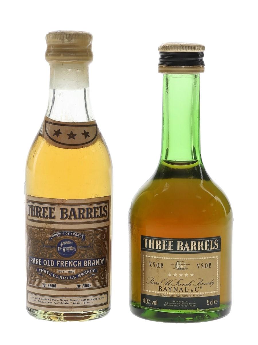 Three Barrels 3 & 5 Star  2 x 5cl / 40%