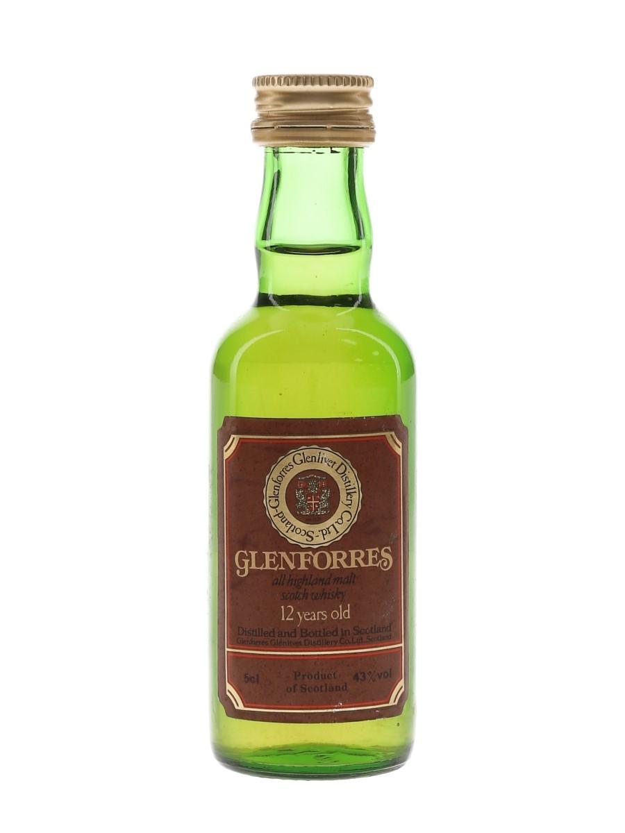 Glenforres 12 Year Old Bottled 1980s 5cl / 43%
