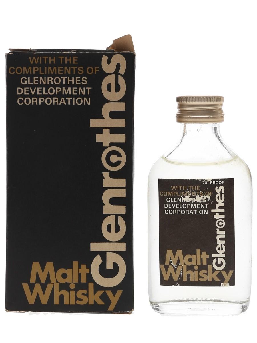 Glenrothes Development Corporation Malt Whisky Bottled 1970s 5cl / 40%