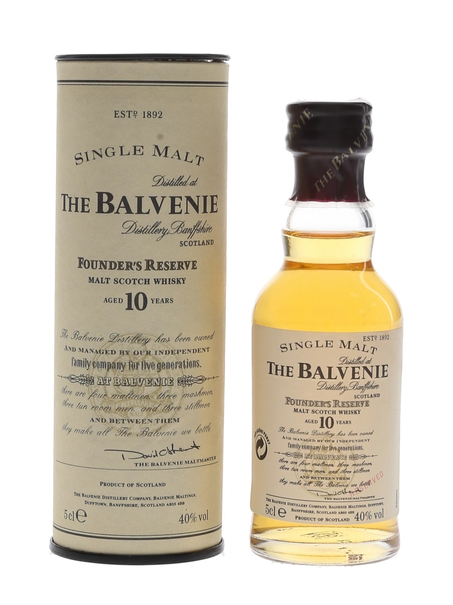 Balvenie 10 Year Old Founder's Reserve Bottled 1990s 5cl / 40%