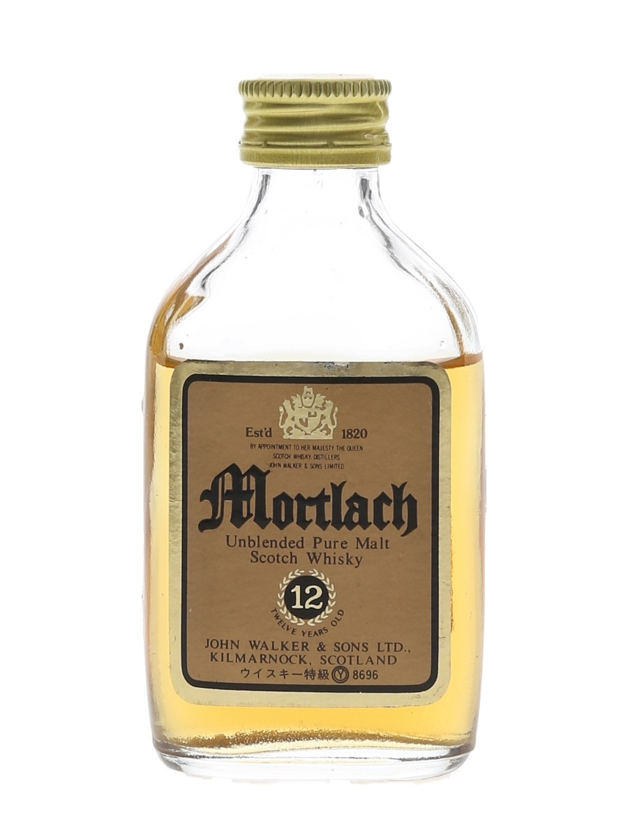 Mortlach 12 Year Old Bottled 1980s 5cl / 43%