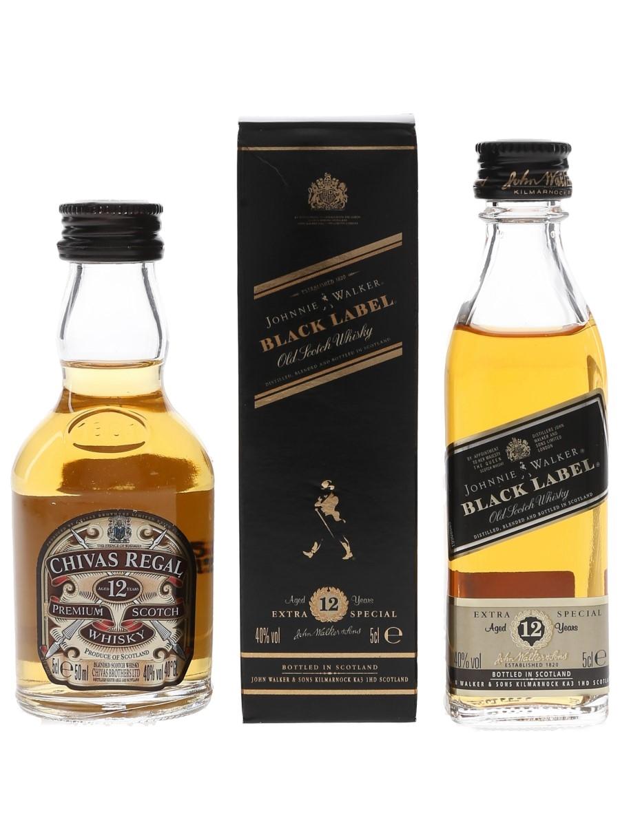 Chivas Regal & Johnnie Walker Black Label 12 Year Old  2 x 5cl / 40%