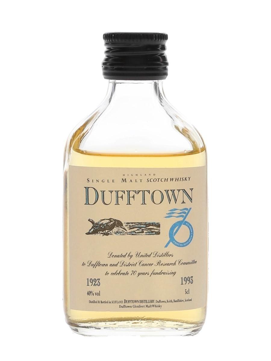 Dufftown Flora & Fauna Dufftown & District Cancer Reserch Campaign 1923-1993 5cl / 40%