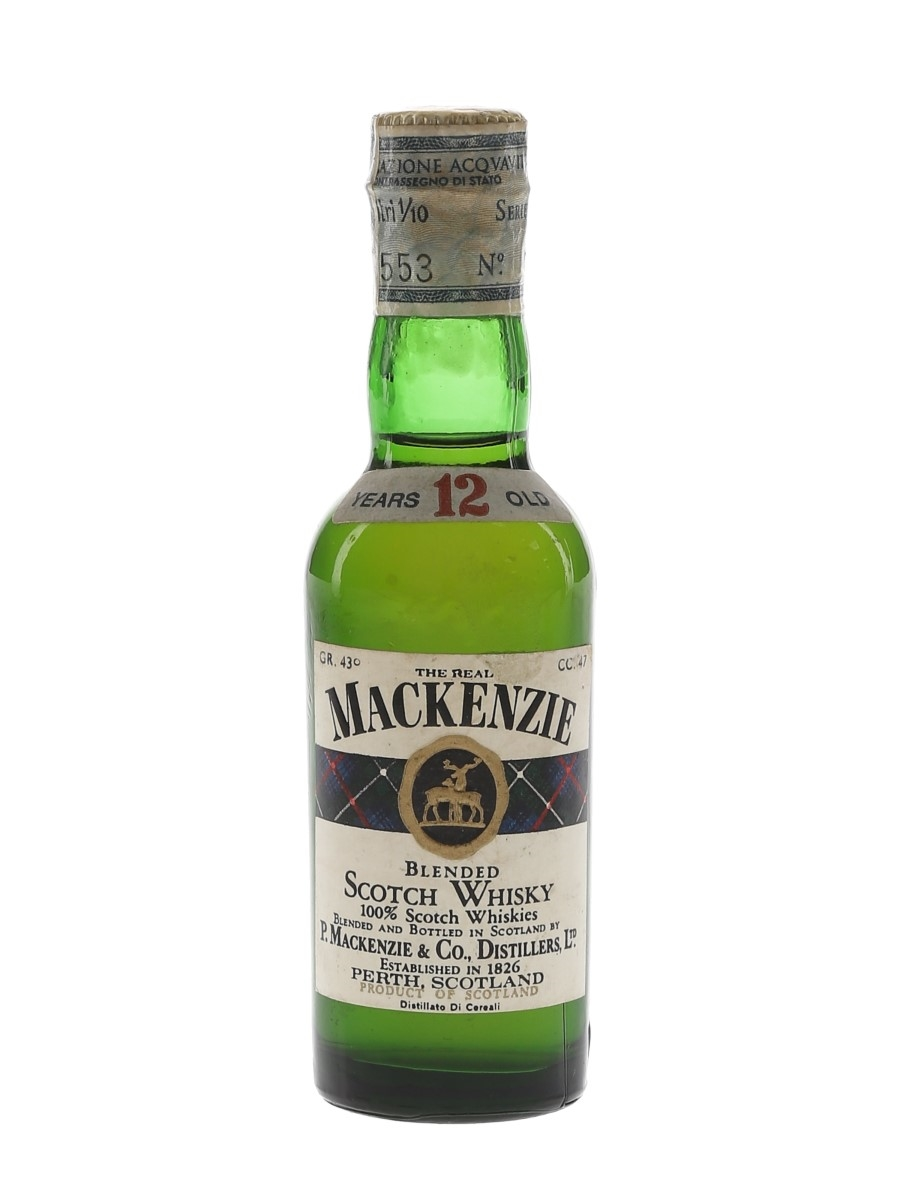 The Real Mackenzie 12 Year Old Bottled 1970s 4.7cl / 43%