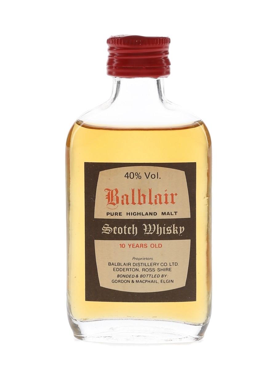 Balblair 10 Year Old Bottled 1980s - Gordon & MacPhail 5cl / 40%