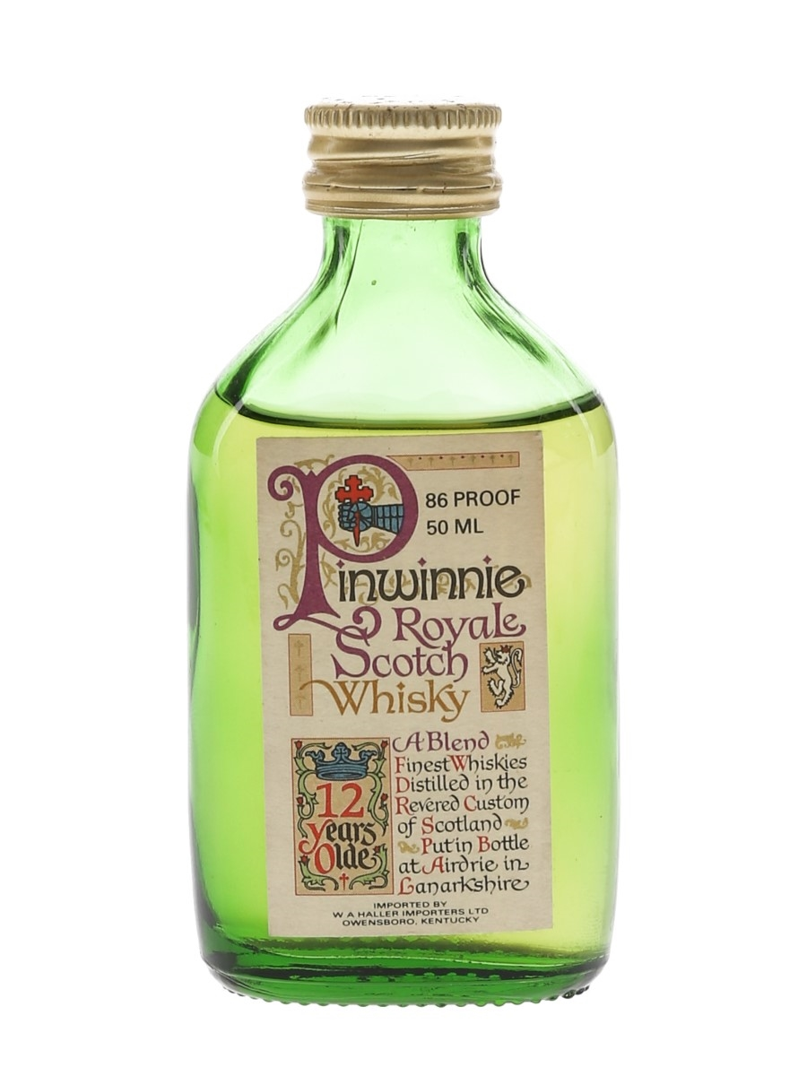 Pinwinnie Royale 12 Year Old Bottled 1970s - US Market 5cl / 43%