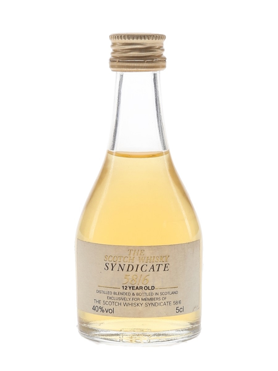 Syndicate 58-6 12 Year Old The Scotch Whisky Syndicate 58-6 5cl / 40%