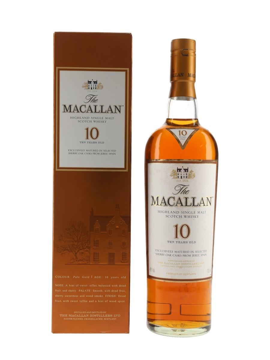 Macallan 10 Year Old Sherry Oak 70cl / 40%
