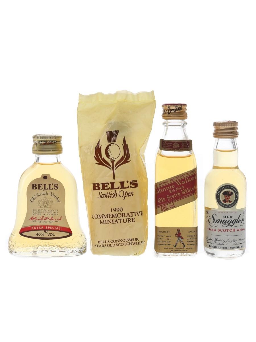 Bell's, Johnnie Walker & Old Smuggler  4 x 3cl-5cl / 40%
