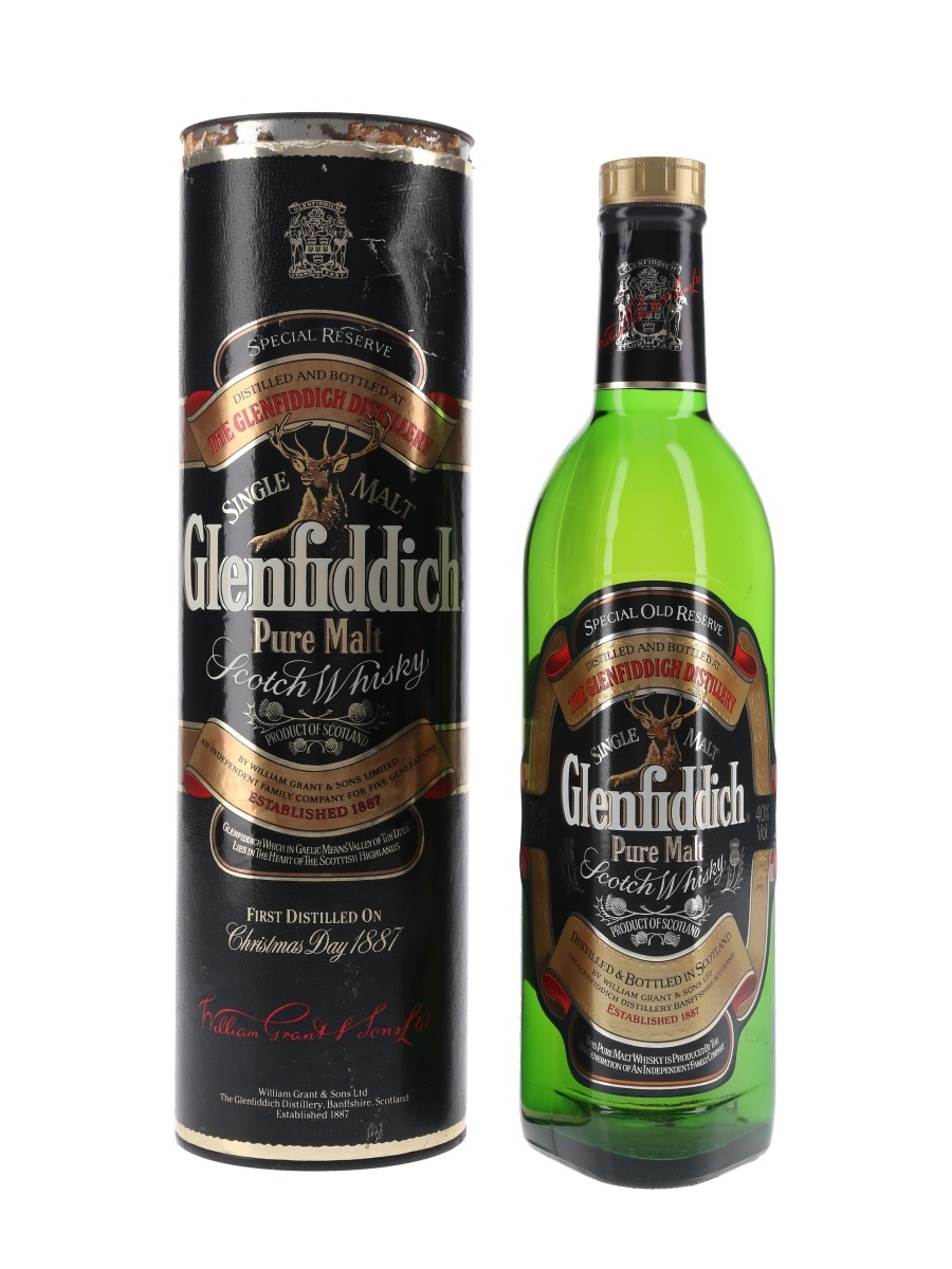 Glenfiddich Special Old Reserve Pure Malt Bottled 1990s 70cl / 40%