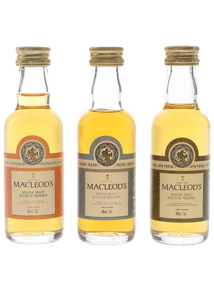Macleod's Single Malts  3 x 5cl / 40%
