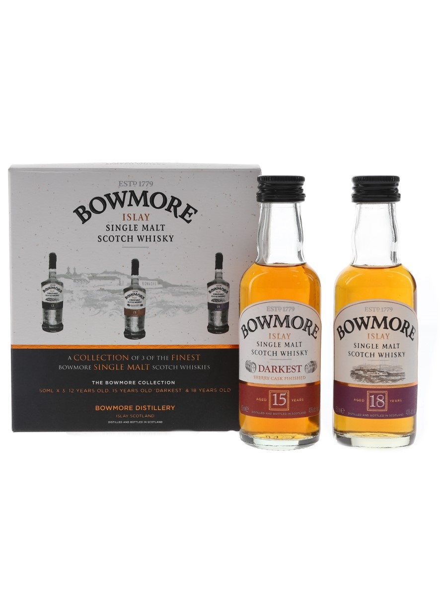 Bowmore Collection 15 Year Old & 18 Year Old  2 x 5cl / 43%