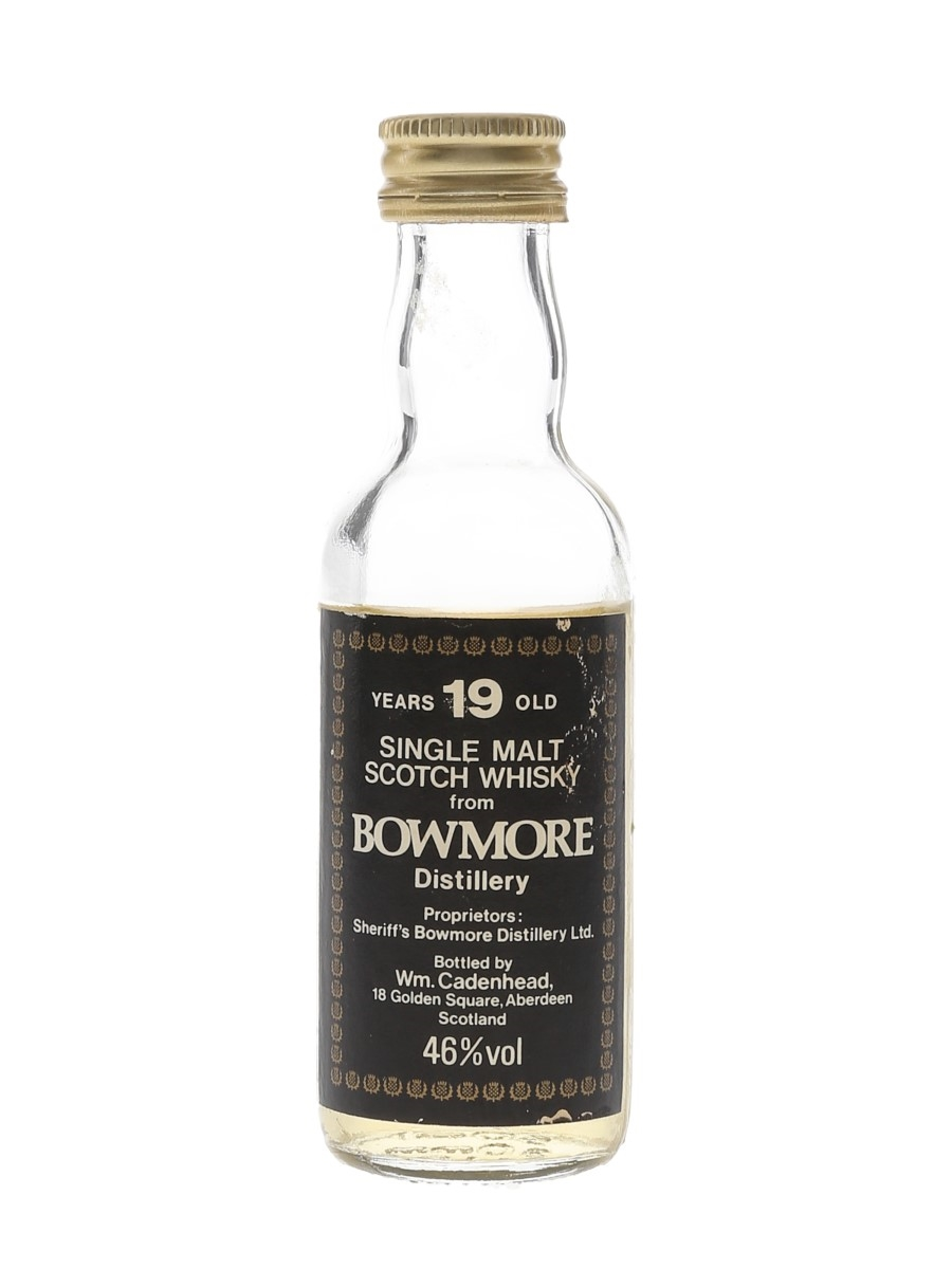 Bowmore 19 Year Old Bottled 1980s - Cadenhead's 5cl / 46%