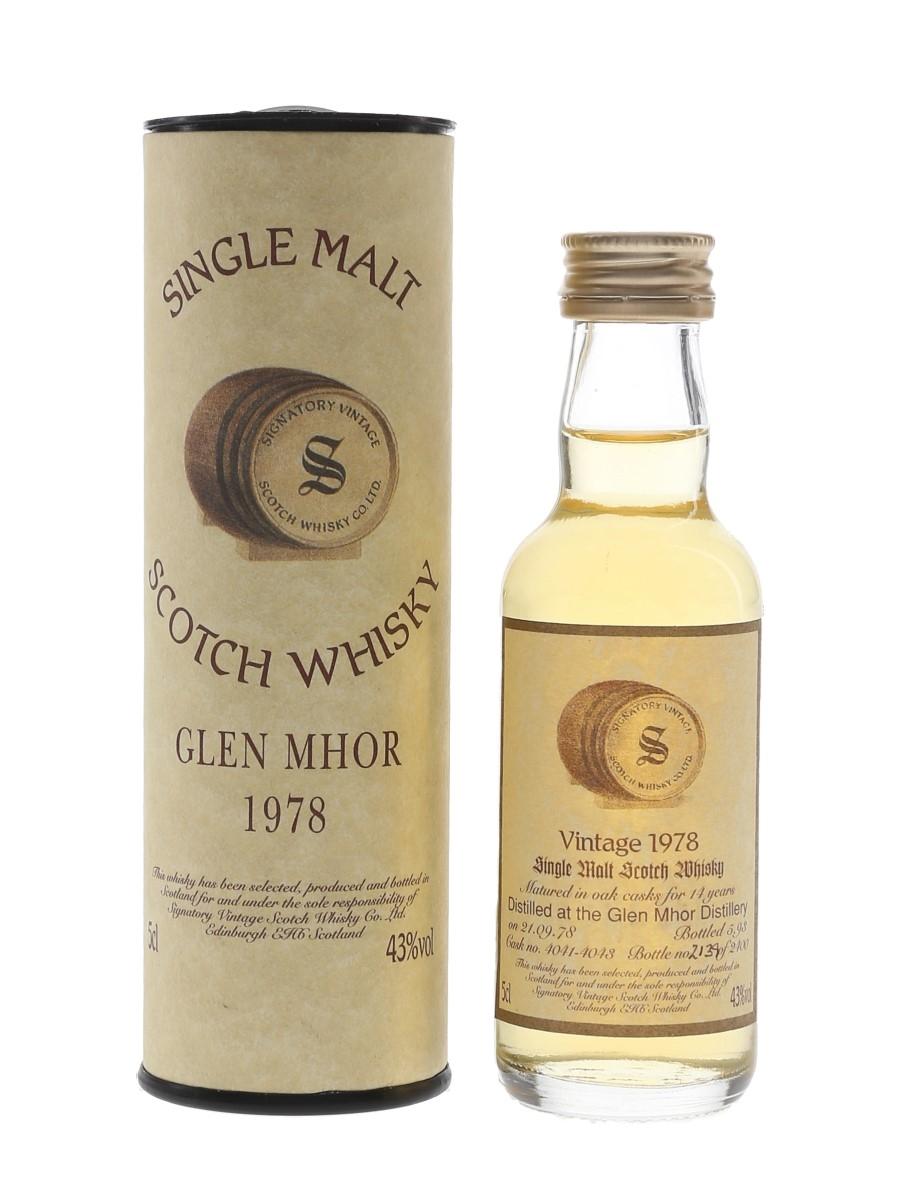 Glen Mhor 1978 14 Year Old Bottled 1993 - Signatory Vintage 5cl / 43%