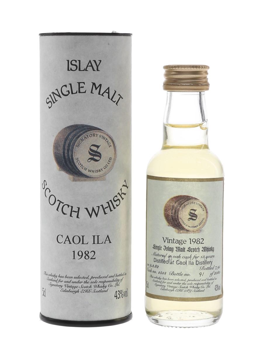 Caol Ila 1982 13 Year Old Cask 1513 Bottled 1995 - Signatory Vintage 5cl / 43%