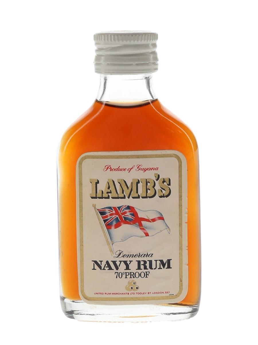 Lamb's Demerara Navy Rum Bottled 1970s 5cl / 40%