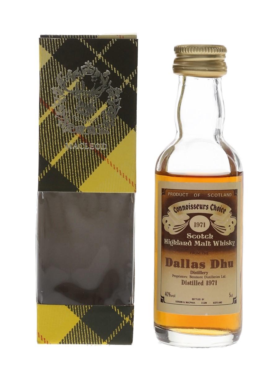 Dallas Dhu 1971 Connoisseurs Choice Bottled 1980s - Gordon & MacPhail 5cl / 40%