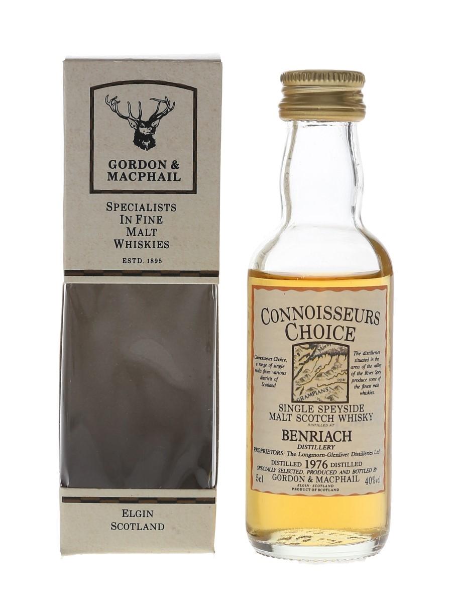 Benriach 1976 Connoisseurs Choice Bottled 1990s - Gordon & MacPhail 5cl / 40%