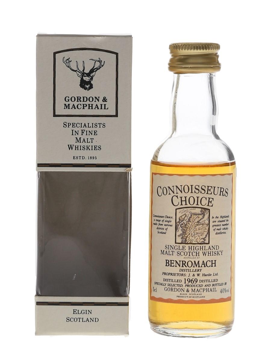 Benromach 1969 Connoisseurs Choice Bottled 1980s - Gordon & MacPhail 5cl / 40%