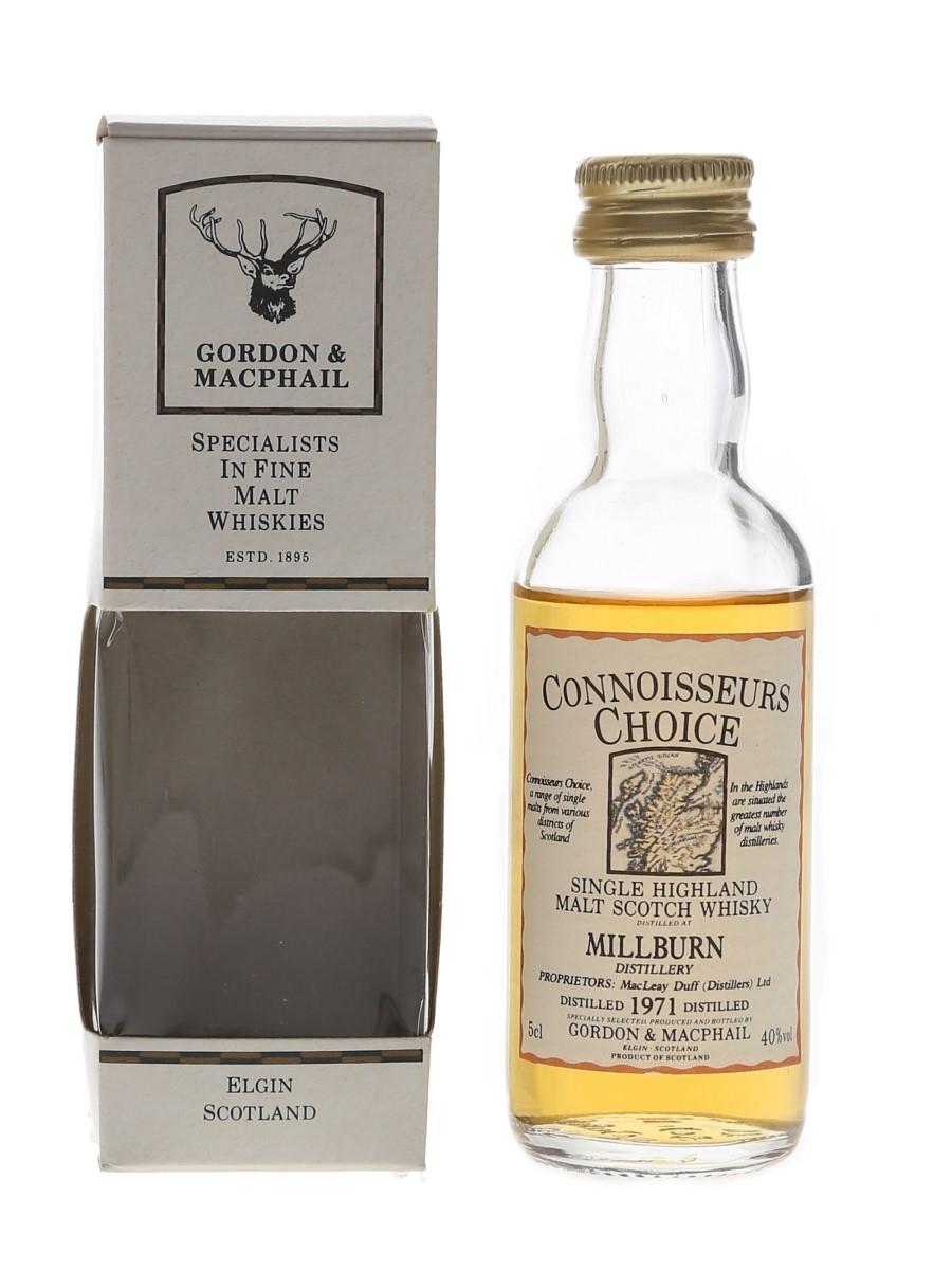 Millburn 1971 Connoisseurs Choice Bottled 1990s - Gordon & MacPhail 5cl / 40%