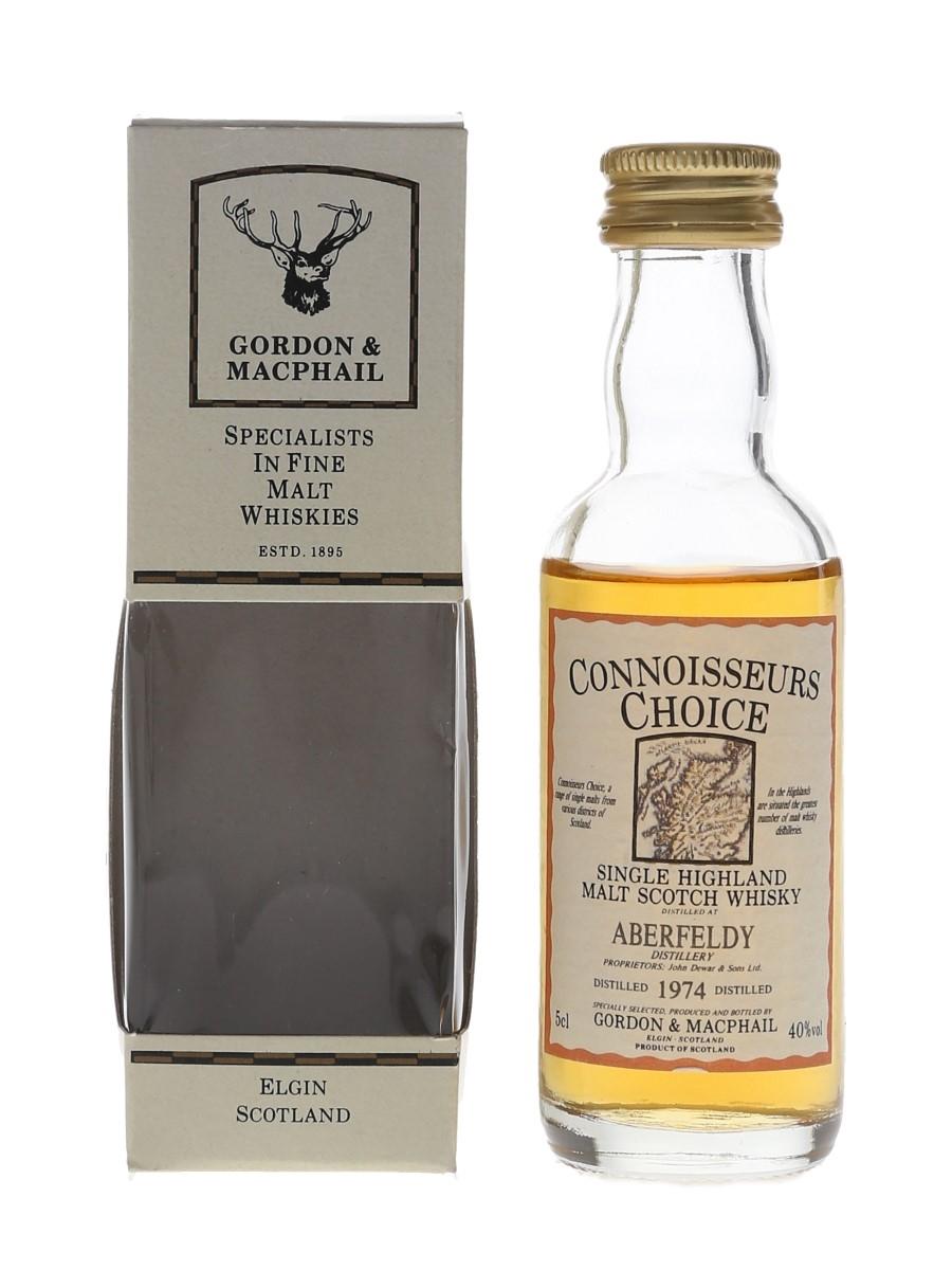 Aberfeldy 1974 Connoisseurs Choice Bottled 1990s - Gordon & MacPhail 5cl / 40%