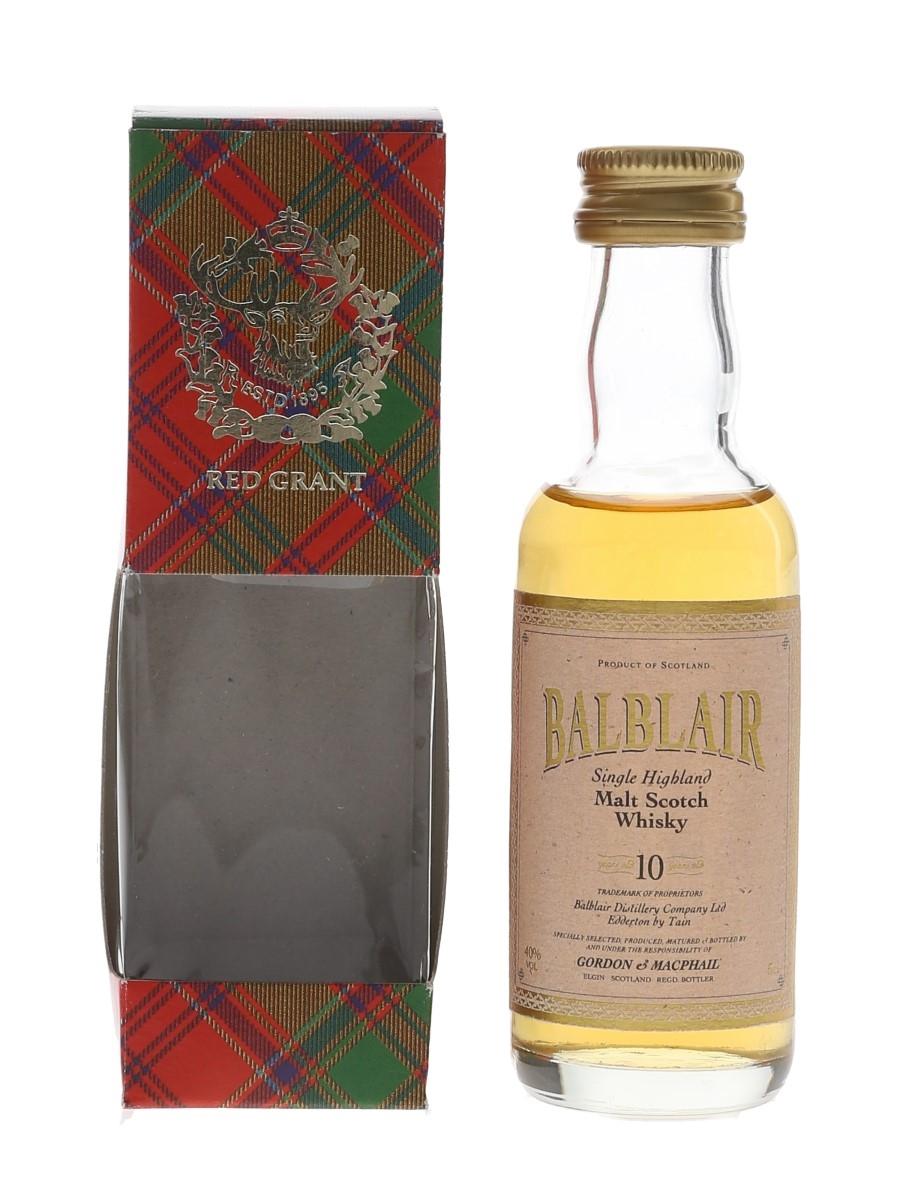 Balblair 10 Year Old Bottled 1990s - Gordon & MacPhail 5cl / 40%
