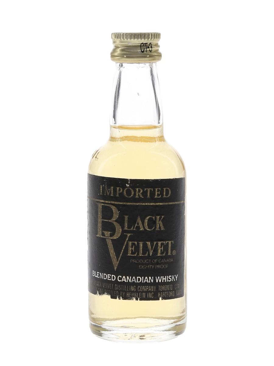 Black Velvet Bottled 1980s 5cl / 40%