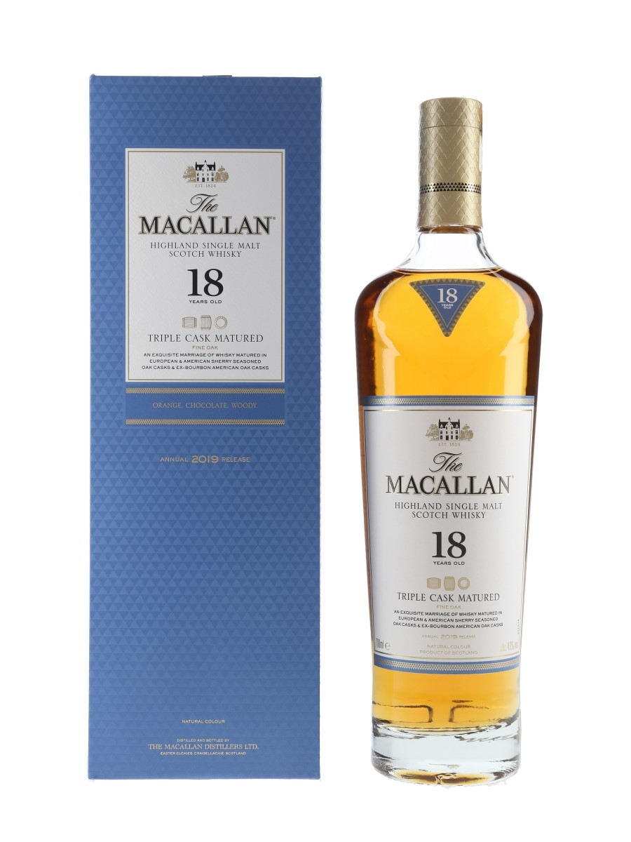 Macallan 18 Year Old Fine Oak Annual 2019 Release - Triple Cask Matured 70cl / 43%