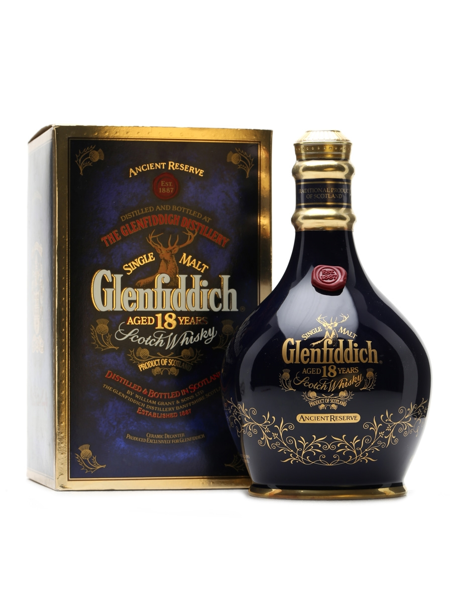 Glenfiddich 18 Year Old Ceramic Decanter 70cl