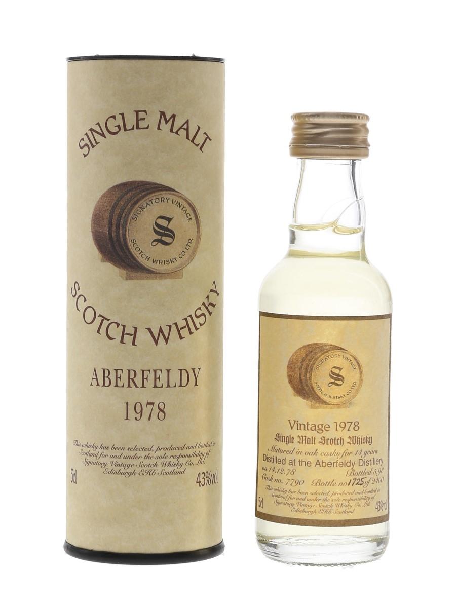 Aberfeldy 1978 14 Year Old Bottled 1993 -  Signatory Vintage 5cl / 43%