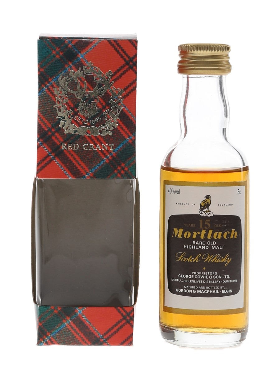 Mortlach 15 Year Old Bottled 1980s - Gordon & MacPhail 5cl / 40%