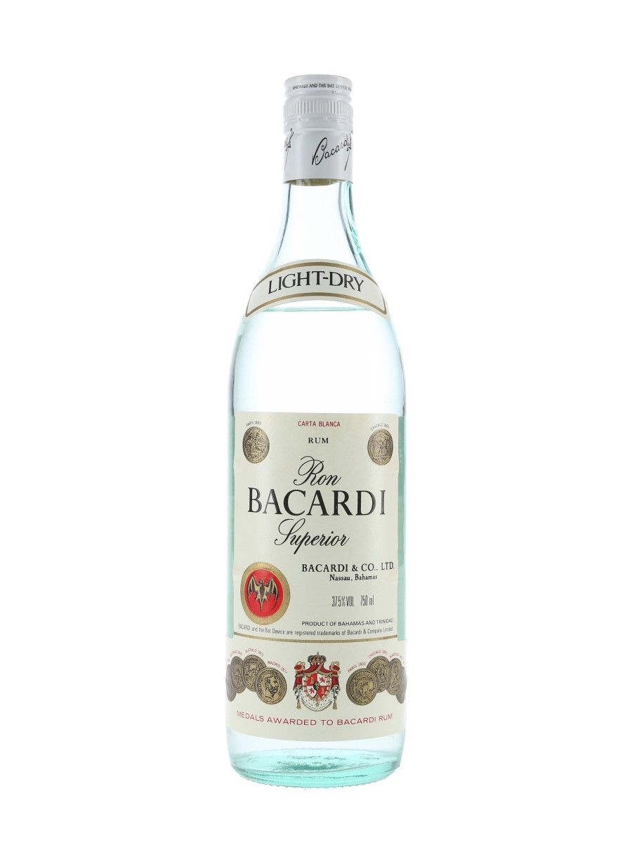 Bacardi Carta Blanca Bottled 1980s - Bahamas 75cl / 37.5%