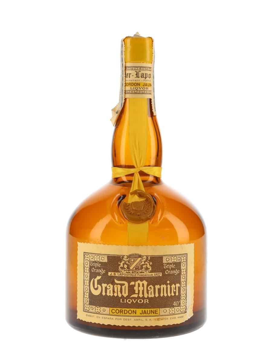 Grand Marnier Cordon Jaune Bottled 1970s - Spain 100cl / 40%