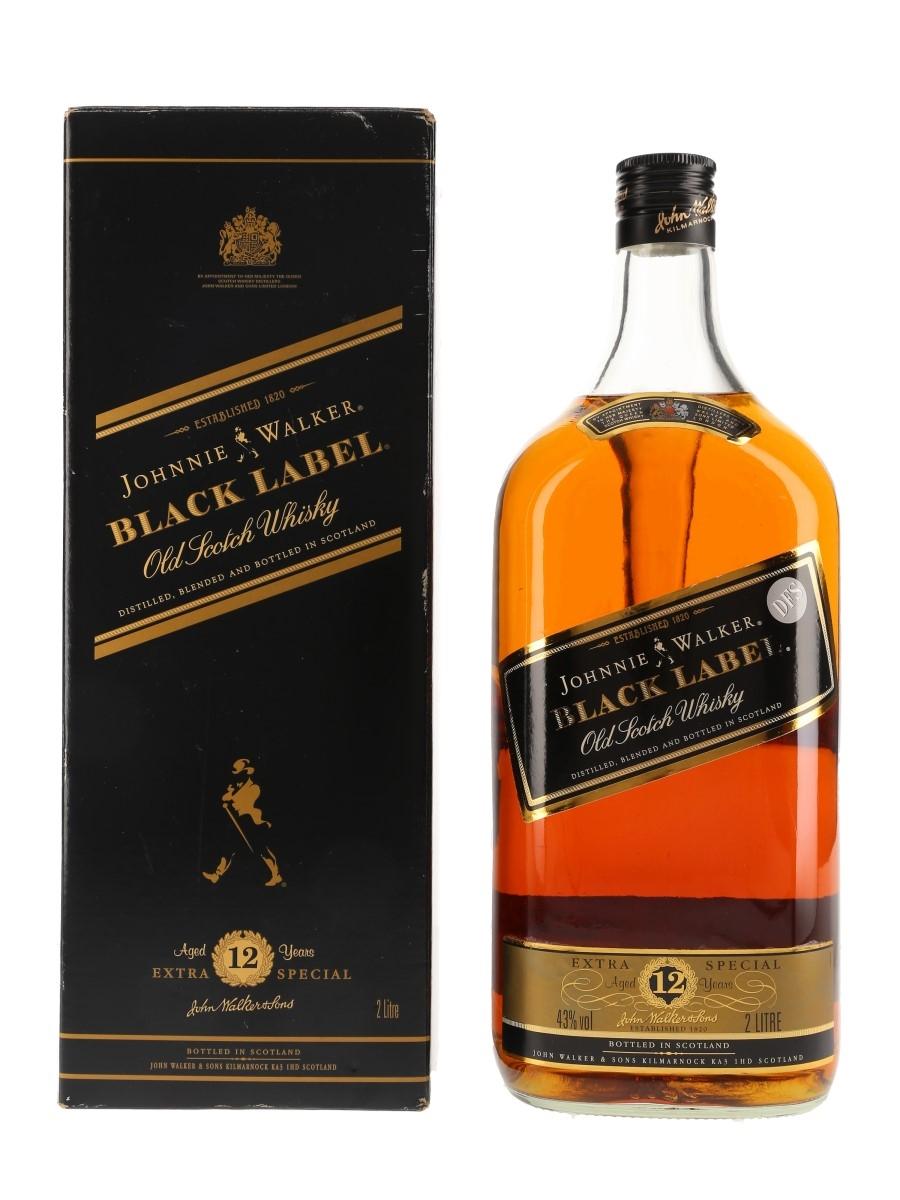 Johnnie Walker Black Label 12 Year Old Large Format Bottled 1980s - Duty Free 200cl / 43%