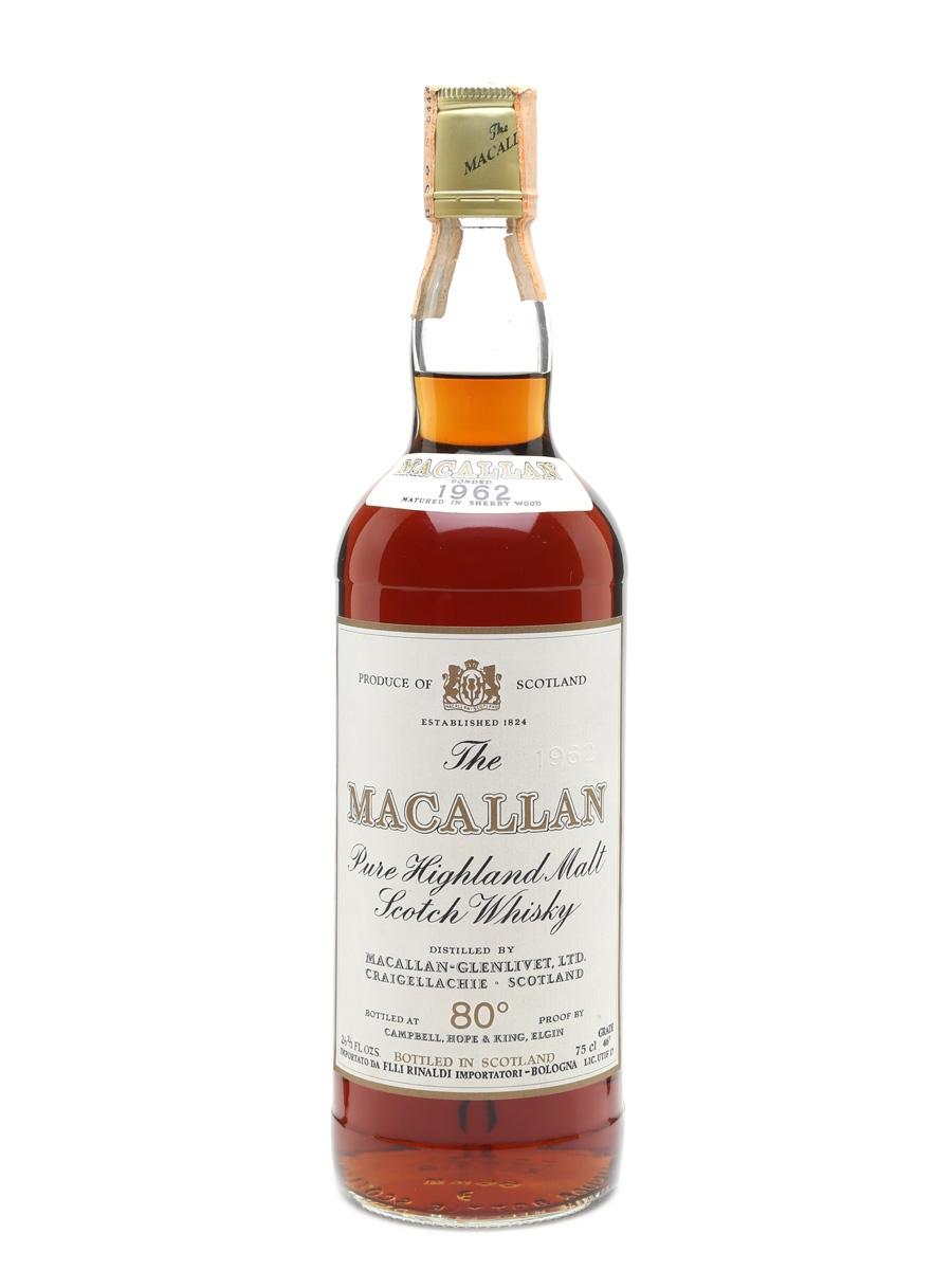 Macallan 1962, Rinaldi Bottled 1970s 75cl / 46%