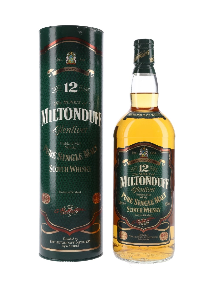 Miltonduff Glenlivet 12 Year Old Bottled 1990s 100cl / 43%