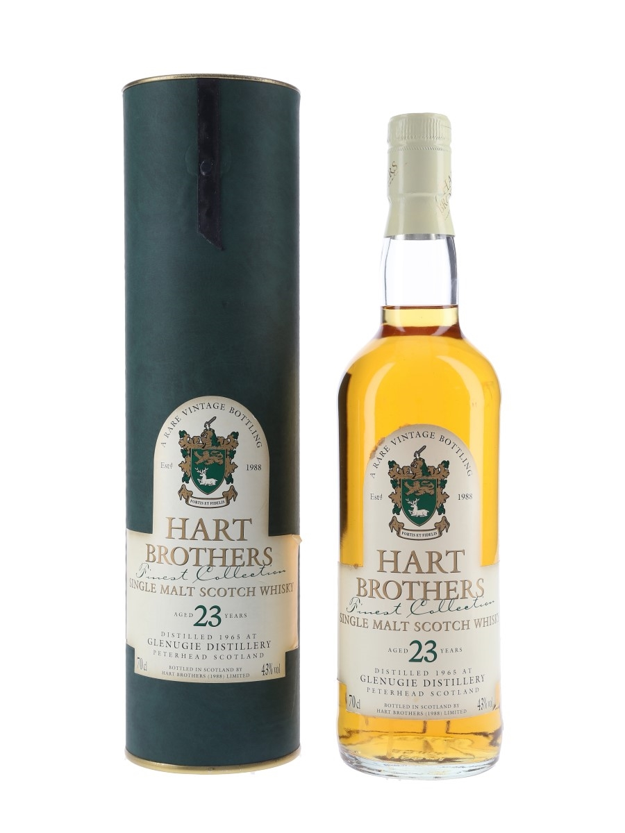 Glenugie 1965 23 Year Old Bottled 1980s - Hart Brothers 70cl / 43%