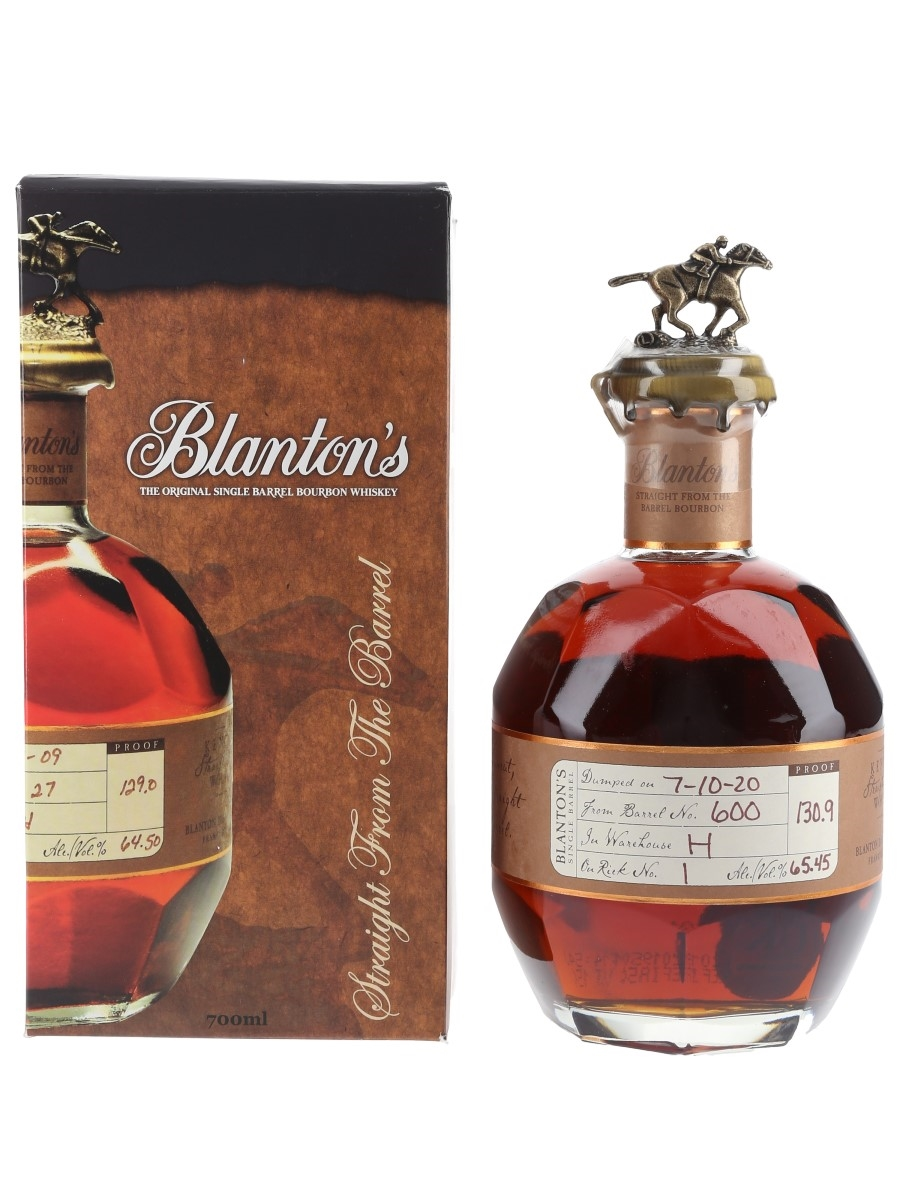 Blanton's Straight From The Barrel No. 600 Bottled 2020 70cl / 65.45%