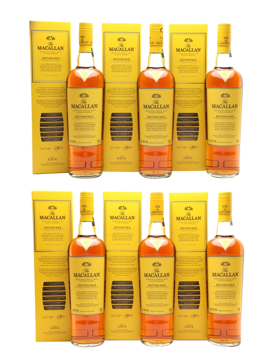 Macallan Edition No.3  6 x 70cl / 48.3%