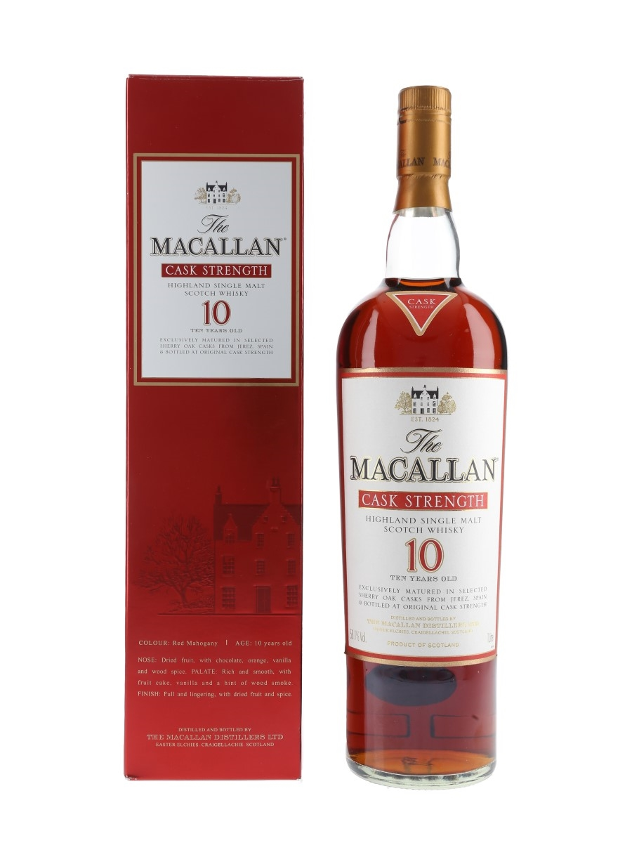 Macallan 10 Year Old Cask Strength  100cl / 58.1%