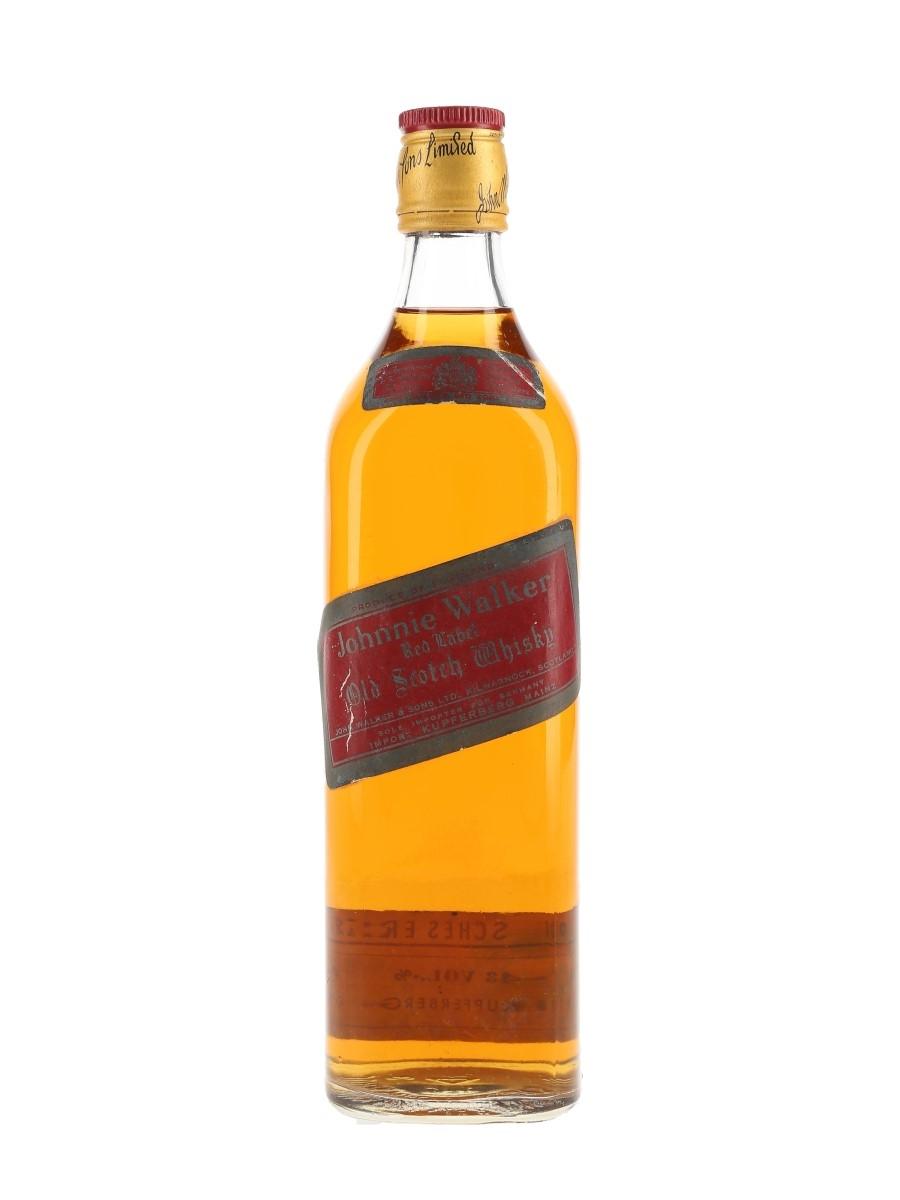 Johnnie Walker Red Label Bottled 1970s-1980s - Germany 75cl / 43%
