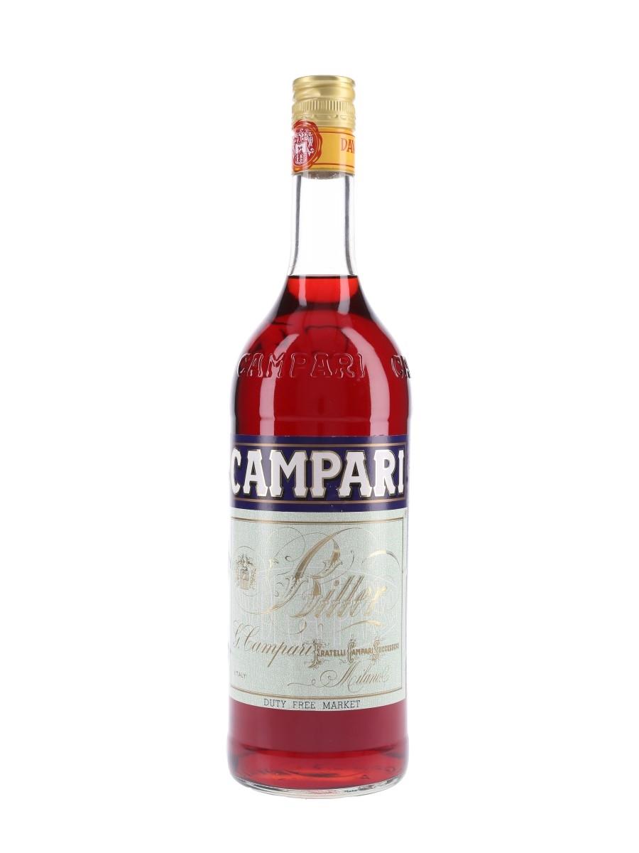 Campari Bitter Bottled 1980s - Duty Free 100cl